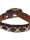 Z&X®  Vintage Style X Shape Rivet Leather Bracelet