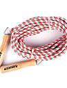 Wooden Handle ATLS Group Skipping Rope Red and White(Assorted Colors,10M)