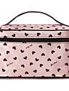 화장품 거울 핑크 하트 패턴 휴대용 화장품 메이크업 파우치 핸드 휴대용 가방