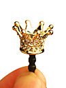 Vergulde Royal Crown Anti-stof Oortelefoon Jack voor iPhone 4/4S