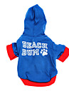 Dog Hoodie Blue Dog Clothes Spring/Fall Letter & Number