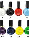 1PCS Multi-color Top Coat nagellak voor Stempelen (10 ml, verschillende kleuren)