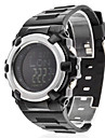 Men's Air Pressure Multi-Functional Silver Case Black Rubber Band Digital Wrist Watch Cool Watch Unique Watch