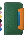 Цвет Candy узор Полный кошелек кожаный чехол орган для iPhone 4/4S (разных цветов)