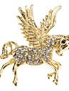 여성의 다이아몬드 날개 달린 말 브로치