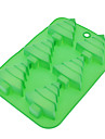 Christmas Tree Shaped Silicone Cake Cookie Mould Random Color