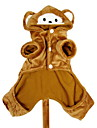 Chien Costume / Pulls a capuche / Tenue Marron Vetements pour Chien Hiver Animal Cosplay / Halloween