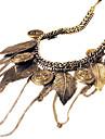 eruner®vintage antique alliage de cuivre collier de motif de feuille