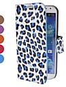 Leopard Print Pattern Capa de Couro PU com suporte e slot para cartão de Samsung i9500 Galaxy S4 (cores sortidas)