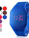 Men's Watch Red LED Digital Square Rubber Band  Cool Watch Unique Watch