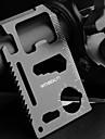 Multifuncionais portáteis inoxidável estilo cartão Kits de ferramentas de aço - Preto