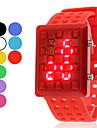 Unisex Estilo oco de borracha LED Digital Wrist Watch (cores sortidas)