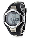 Unisex Calorie Counter Black Silicone Band Digital Wrist Watch with Heart Rate Monitor