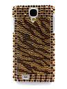 Rhinestone Decorado Tiger Stripe Hard Case para Samsung i9500 Galaxy S4