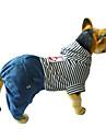 Собаки Комбинезоны Одежда для собак На каждый день Полоски Красный Синий