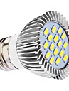 E26/E27 LED Spotlight MR16 16 SMD 5630 450 lm Natural White AC 110-130 AC 220-240 V