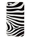 Zebra Pattern Transparent Frame PC Case for iPhone 4/4S