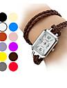 여자의 긴 PU 밴드 아날로그 석영 팔찌 시계 (분류 된 색깔)
