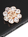Flower Pattern Zircon Home Button Sticker(Assorted Colors)