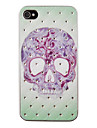 Tattoo Skull Pattern Zircon Back Case for iPhone 4/4S