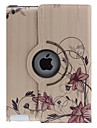 Curvar Flower Pattern 360 Graus Rotatable PU Leather Case Full Body Vine com suporte para iPad 2/3/4