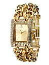 Mujeres Diamante Dial cuarzo analogico reloj pulsera banda de acero de oro (colores surtidos)