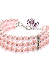Necklaces for Dogs Pink Spring/Fall S / M / L Plastic
