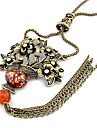 Red Pendant Necklaces / Vintage Necklaces Agate / Rhinestone Daily Jewelry