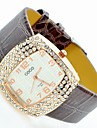 Women's Sparkle Case PU Band Quartz Watch Cool Watches Unique Watches