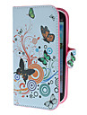 Flowers and Circles Pattern PU Leather Case with Stand and Card Slot for Samsung Galaxy S3 I9300