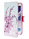 Mini elegantes Blumen-Muster PU-Lederetui mit Stativ und Card Slot fuer Samsung Galaxy Note N7100 2