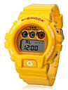 Unisex Automatic Digital Rubber Wrist Watch (Yellow Band)