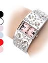 Women's Diamond Pattern Dial Steel Band Quartz Analog Bracelet Watch (Assorted Dial Colors) Cool Watches Unique Watches