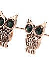 Earring Animal Shape / Owl Stud Earrings Jewelry Women Daily Gold / Alloy Gold