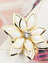 Women\'s Lotus-Shaped Enamel Alloy Ring (random color)