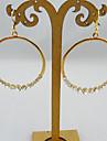 أزياء مع كامل الماس جولة إسقاط أقراط 1