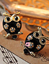 Women\'s  European and American models owl diamond earrings E134