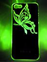 novo padrao de borboleta sentido flash LED cor clara mudanca caso dificil para iphone 5