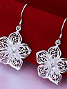 Earring Flower Drop Earrings Jewelry Women Party / Daily Alloy / Silver Plated
