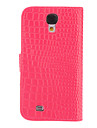For Samsung Galaxy Case Wallet / Card Holder / with Stand / Flip / Embossed Case Full Body Case Solid Color PU Leather Samsung S4