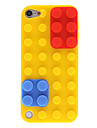 Building Blocks avec amovible Caps Design Cas de protection en silicone rouge et bleu pour iPod touch 5