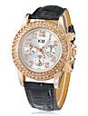Двухместный Женские Diamante набора PU Группа Кварцевые аналоговые наручные часы (разных цветов)