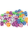 50pcs Colorful Super Small Dice Pack