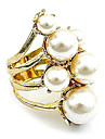 Ring Party / Daily / Casual Jewelry Pearl / Alloy Women Statement Rings Gold