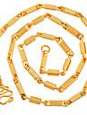 Бижутерия Ожерелья-цепочки Повседневные Сплав Мужчины Золотой Свадебные подарки