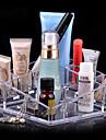 acrilico transparente complejo soporte de almacenamiento de cosmeticos maquillaje cepillo quadrate olla organizador cosmetico