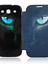 Cat Eyes Leather Case voor de Samsung Galaxy S3 I9300
