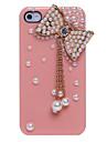 Monili della perla del pendente di bowknot coperto di caso per il iPhone 4/4S