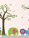Стикеры для стены, с рисунком животных из мультфильмов