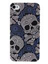 Skull Pattern Blue Plastic Hard Case for iPhone 4/4S
